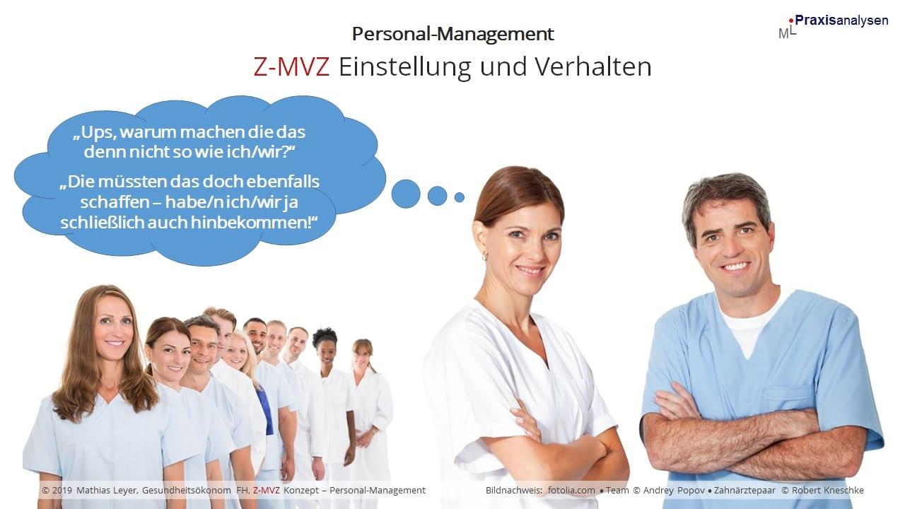 Einstellung und Verhalten von angestellten Zahnärzten in einem Z-MVZ