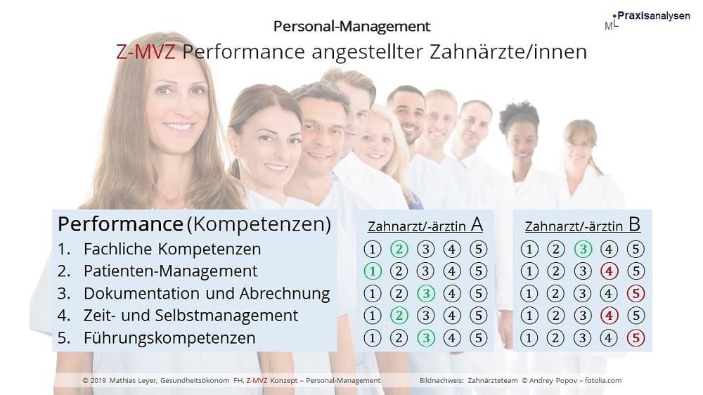 Performance Entwicklung von angestellten Zahnärzten im Z-MVZ - Kompetenzen und Leistung messen
