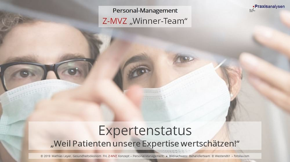 Expertenstatus und Expertise der angestellten Zahnärzte/innen in Zahnmedizinischen Versorgungszentren.