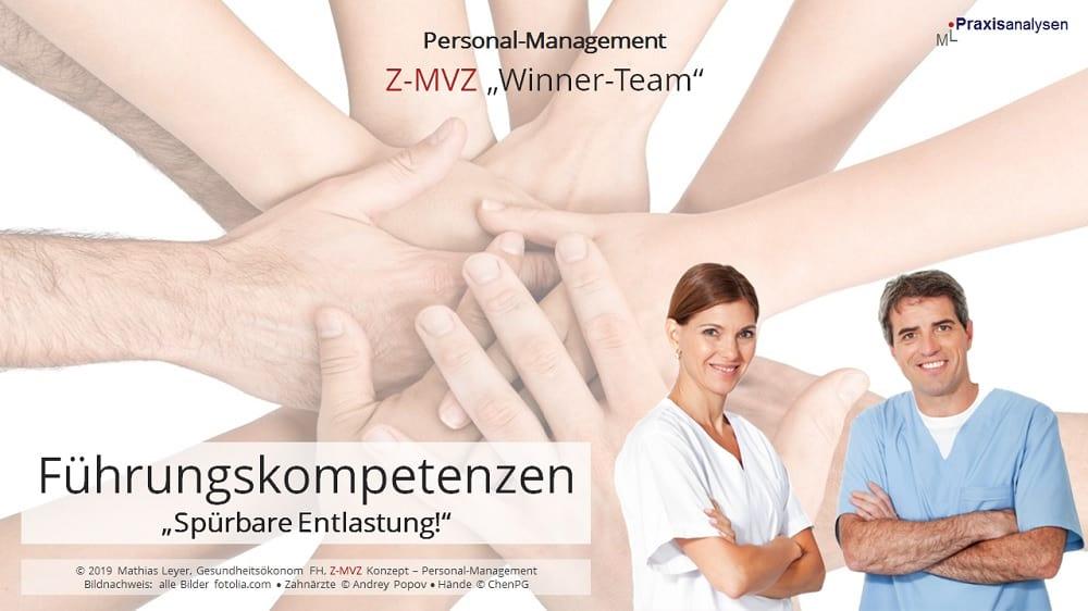 Führungskompetenzen in einem Zahnmedizinischen Versorgungszentren mit angestellten Zahnärzte/innen stärken und damit die Z-MVZ Inhaber/innen spürbar entlasten.
