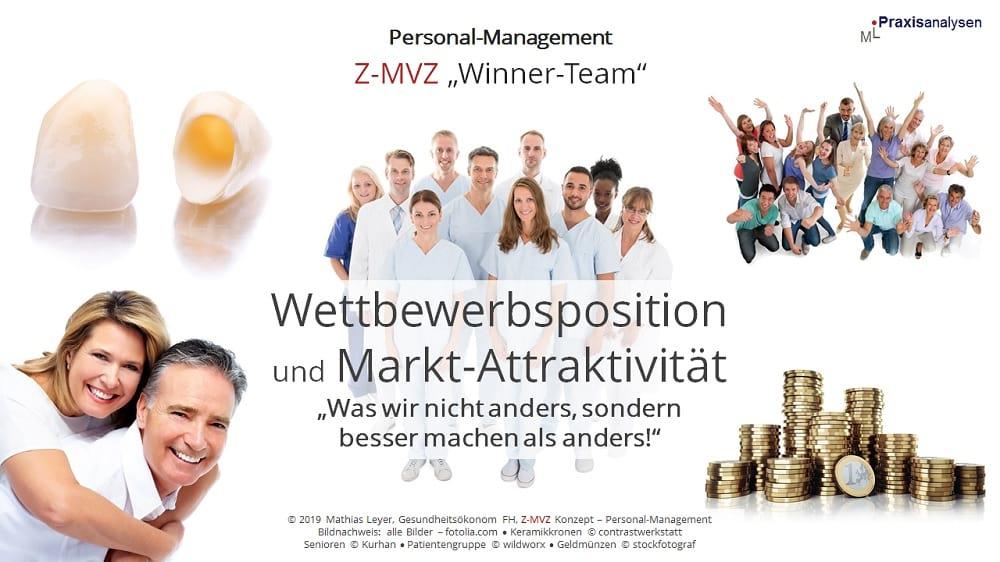 """Wettbewerbsposition und Markt-Attraktivität eines Zahnmedizinischen Versorgungszentrums mit angestellten Zahnärzte/innen: """"Was wir nicht anders, sondern besser machen als andere!"""""""